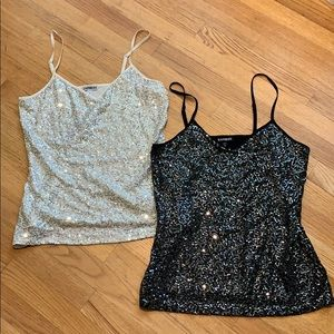 Express Sequined Tank Tops